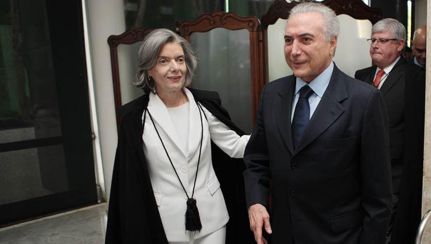 Ministra Carmen Lúcia e Temer